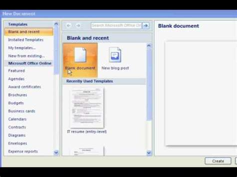 resume templates  microsoft word youtube