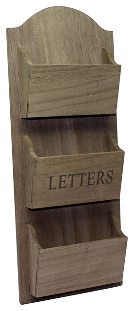 wall mount letter organizer hanging letter holder rustic desk accessories by pm 6945