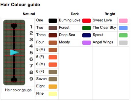 acnl hair color guide sugarpie crossing