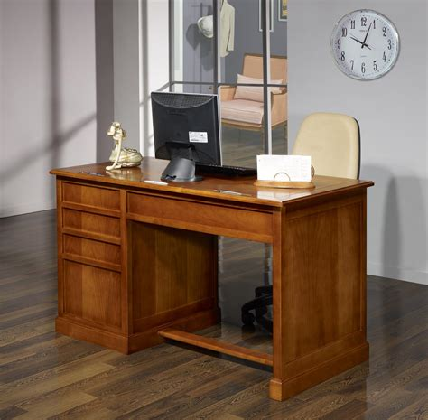 bureau louis philippe merisier bureau 5 tiroirs jeanne en merisier de style louis