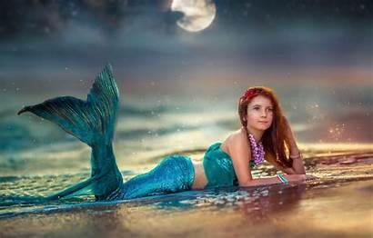 Mermaid Ekaterina Shore Water Moon Sea Decoration