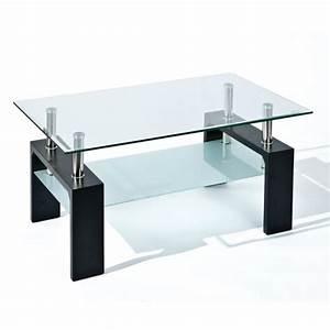 Verre Pour Table Basse : table basse verre dana meubles atlas ~ Teatrodelosmanantiales.com Idées de Décoration