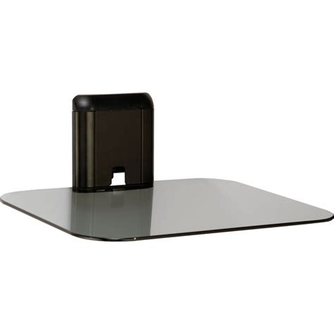 tv wall mount with shelf walmart sanus vuepoint fpa400 b1 single component glass shelf