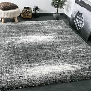 Teppich Grau Weiß Gestreift : shaggy teppich extra flauschig dicht gewebt hochflor farbe grau weiss exclusiv ebay ~ Markanthonyermac.com Haus und Dekorationen