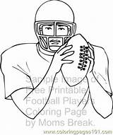 Football Player Coloring Pages Mountaineers Printable Wvu Games Sketch Coloringpages101 Template Templates sketch template