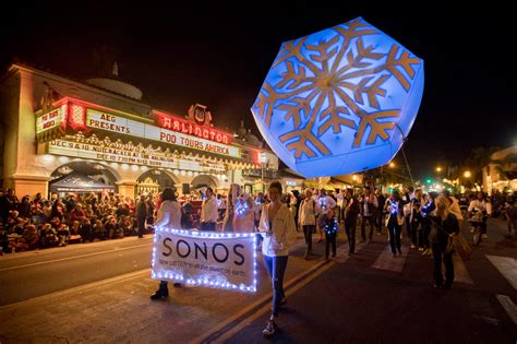 Santa Barbara Parade Of Lights by State Lights Up For 65th Annual Downtown Santa
