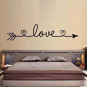 Dctop love arrow wall stickers romantic bedroom decals for Wall decals for home