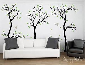 forest wall decal wall decor removable matte vinyl wall With forest wall decals