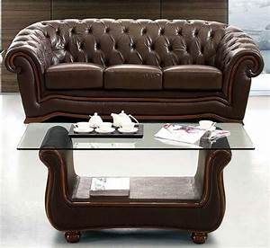 Traditional Brown Italian Leather Sofa Prime Classic ...