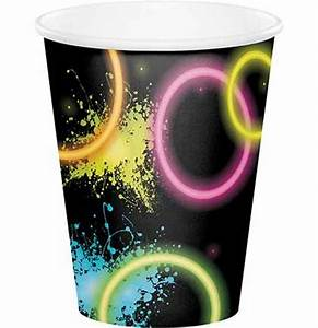 Neon Party Cups Sweet 16 Party Decorations