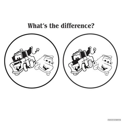 Spot The Difference Adults Printable