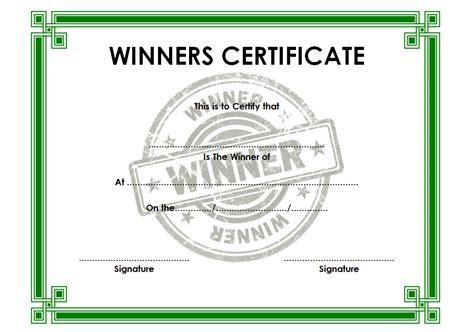 Winner Certificate Template Winner Certificate Templates Best 10 Templates