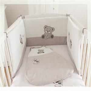 Baby Bettset Mädchen : 3 teiliges bettset hmm lecker kuchen schlafsack baby ~ Watch28wear.com Haus und Dekorationen