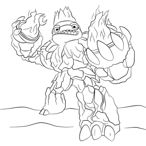 Skylander Hothead Free Colouring Pages
