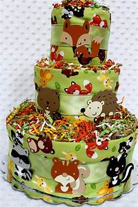 Baby Diaper Cakes Woodland Animals Creatures Baby Shower ...