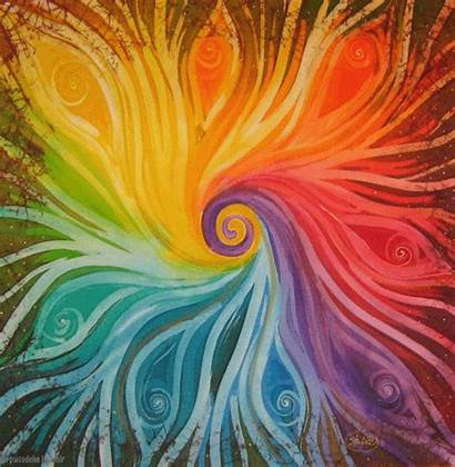 Chakra Painting Colour Trippy Drugs Rainbow Colours