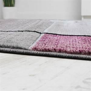 Teppich Grau Lila : designer teppich konturenschnitt abstrakt karo linien grau lila meliert teppiche kurzflor teppiche ~ Indierocktalk.com Haus und Dekorationen