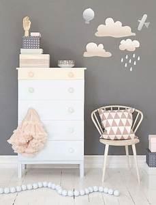 chambre de petite fille grise a la deco pastel With delightful idee decoration jardin exterieur 10 idee deco chambre fille princesse