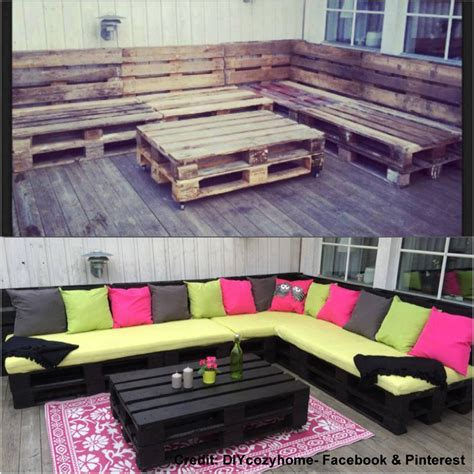 20 great diy furniture projects on a budget style motivation creating an outdoor seating area with skids diy project