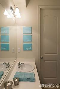 Diy wall art bathroom : Diy bathroom canvas art