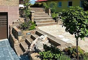 Treppe Bauen Garten : terrasse treppe garten sz79 hitoiro ~ Lizthompson.info Haus und Dekorationen