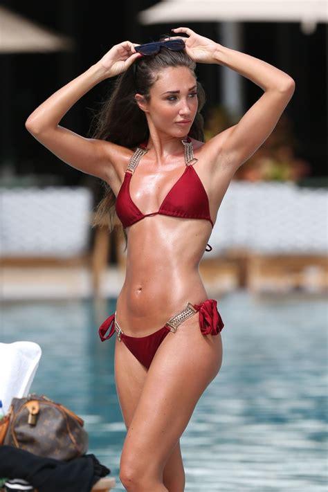 MEGAN MCKENNA in Bikini at a Pool in Miami 04/20/2016 ...