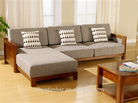 32019 modern furniture simple style solid wood sofa design modern wood sofa
