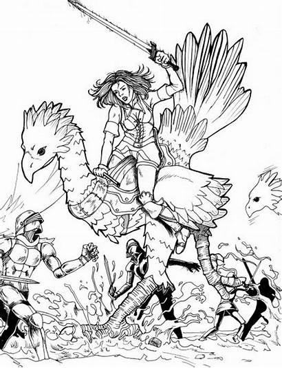 Fantasy Final Coloring Pages Drawing Xi Animal