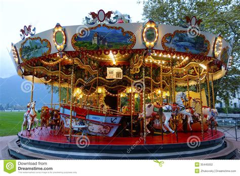 Traditional Fairground Carousel In Annecy France