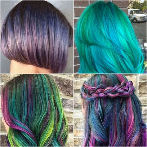 Colors To Dye Hair by Galaxy Hair Color Ideas Popsugar