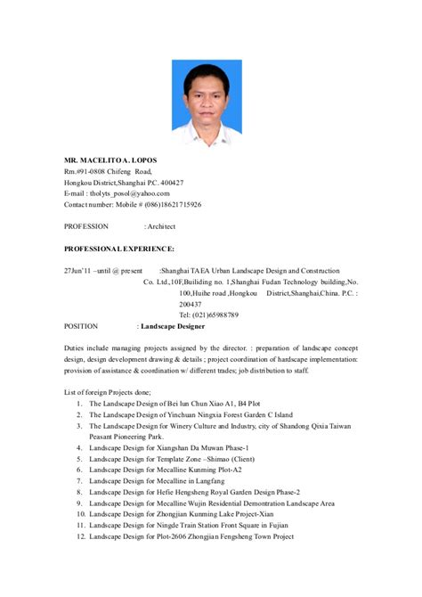 Update Resume In Singapore by Resume 2015 Updated