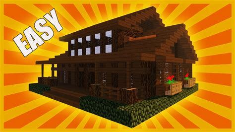 minecraft   build wooden house christmas log cabin youtube