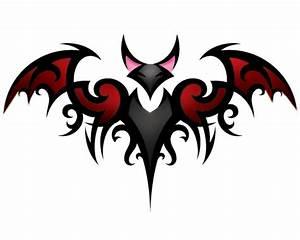 Stunning Tribal Bat Tattoo Sample | Tattooshunt.com