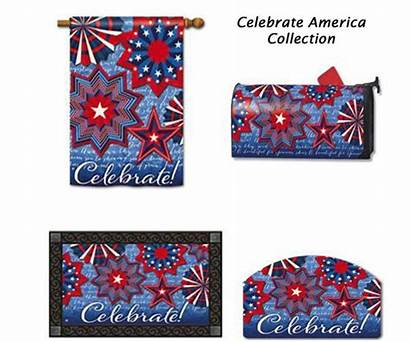 Patriotic Mailbox Flags Flag Matching Covers Decor