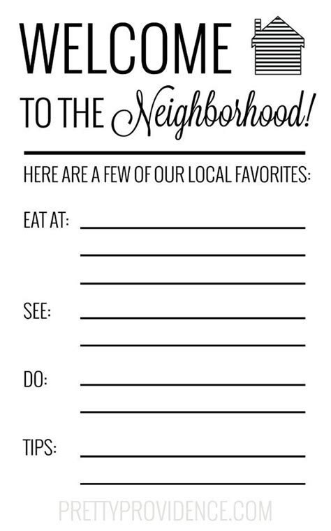 image result   neighbor introduction letter