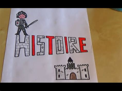 tuto dessin page garde cahier dhistoire chateau