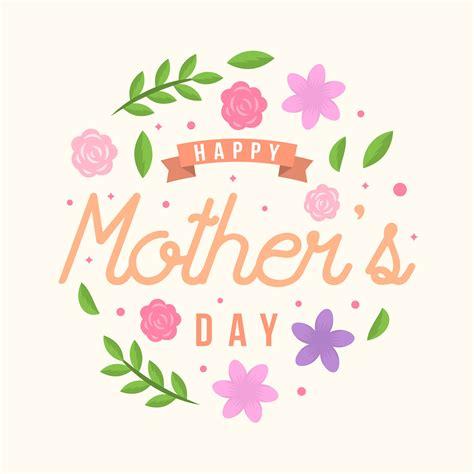 flat happy mothers day card vector   vectors