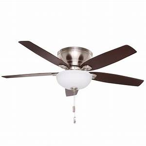 Laudable brushed nickel ceiling fan with light casablanca