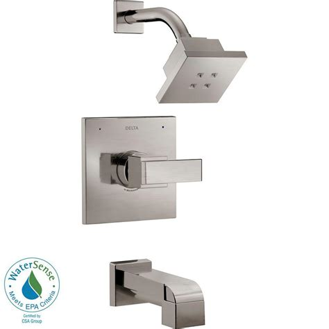 delta shower tub delta ara 1 handle tub and shower faucet trim kit with