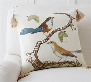 briah bird pillow cover pottery barn With bird pillows pottery barn