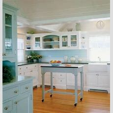 Coastal Kitchens  Coastal Kitchen With Seafoam Green And
