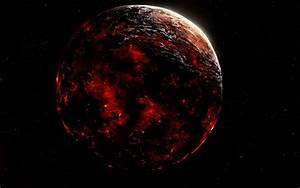 Red planet on fire wallpaper #39623