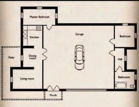 floor plans for garages small home with a big garage floor plan