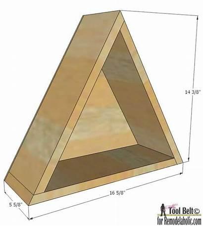 Diy Triangle Shelf Shelves Display Geometric Dimensions