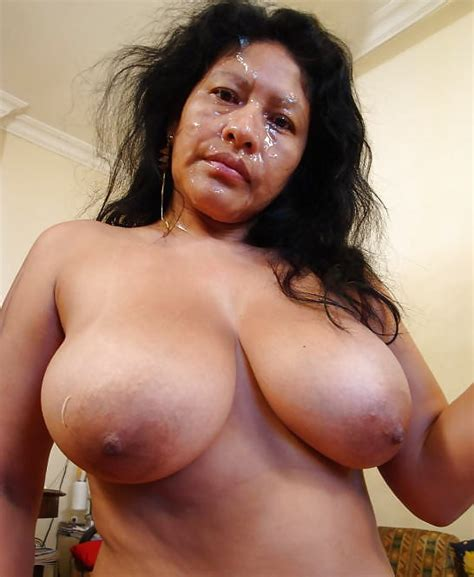 Brazilian Mature Takes A Facial 7 Pics
