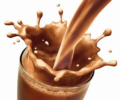 Chocolate Milk Splash Drinks Shake Glass Susu