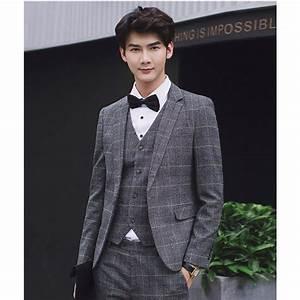 Costume 3 Pièces Gris : costume gris carreaux vintage 3 pi ces pour homme ~ Dallasstarsshop.com Idées de Décoration