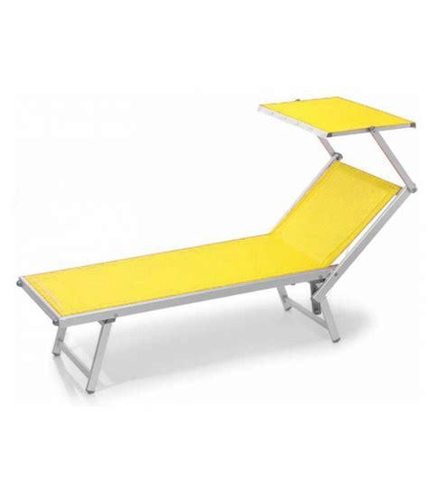 chaise longue avec pare soleil transat aluminium standard avec dossier réglable têtière