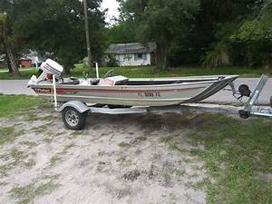1986 Fisher 3-v 16ft Aluminum Flats Boat With 35 Horsepower Johnson For Sale In Tampa  Fl