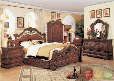 bedroom sets with marble tops frontega traditional cherry bedroom furniture sleigh bed w